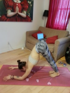 You will look like you got lazy in your downward dog ;)